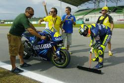 Valentino Rossi, Yamaha, kehrt die Strecke