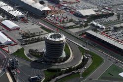 Una vista aerea del Bahrain International Circuit