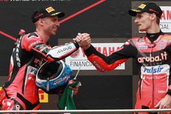 Podyum: Yarış galibi Marco Melandri, Aruba.it Racing-Ducati SBK Team, 3. Chaz Davies, Aruba.it Racin