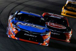 Kyle Busch, Joe Gibbs Racing, Toyota Camry NOS Energy Drink and Christopher Bell, Joe Gibbs Racing, Toyota Camry Rheem
