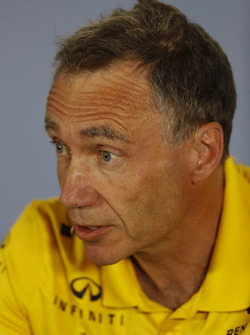 Bob Bell, Chief Technical Officer, Renault Sport F1, in the Press Conference