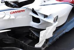 Vue détaillée de la Sauber C37