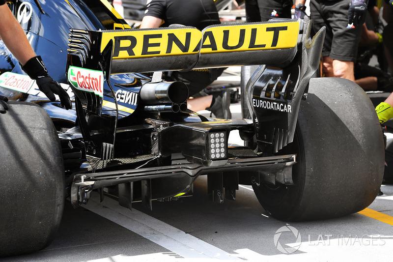 Vue détaillée de l'aileron arrière de la Renault Sport F1 Team R.S. 18