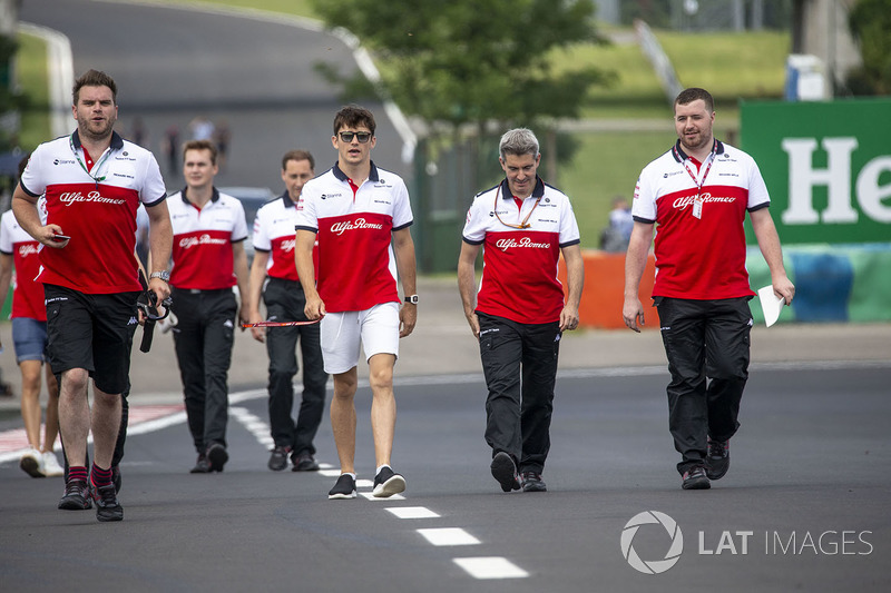 Charles Leclerc, Sauber walks the track
