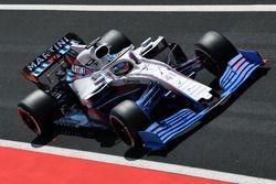 Oliver Rowland, Williams FW41, con parafina en el alerón delantero