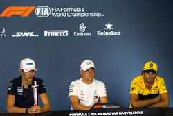 Esteban Ocon, Force India F1, Valtteri Bottas, Mercedes-AMG F1 and Carlos Sainz Jr., Renault Sport F1 Team in the Press Conference