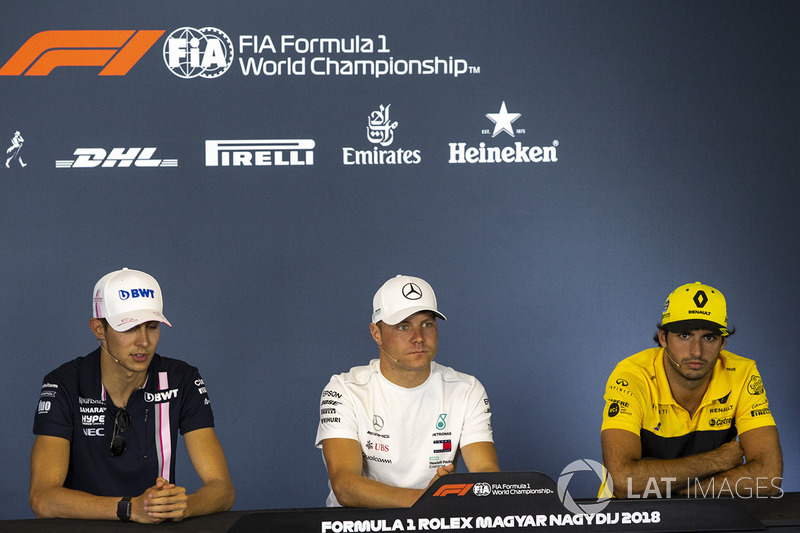 Esteban Ocon, Force India F1, Valtteri Bottas, Mercedes-AMG F1, Carlos Sainz Jr., Renault Sport F1 Team