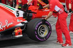 L'arrière de la voiture de Sebastian Vettel, Ferrari SF-71H