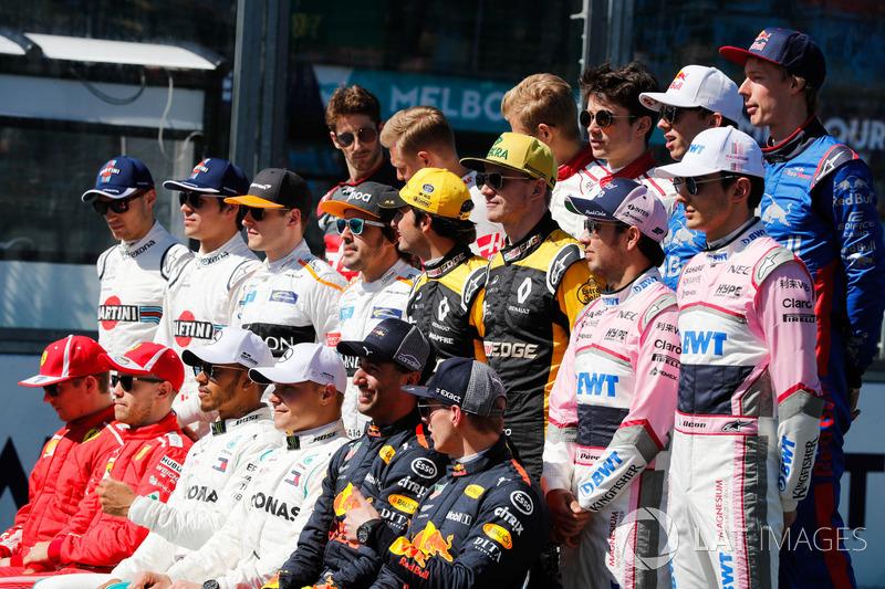 Foto grup pembalap F1