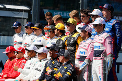 La photo de groupe des pilotes