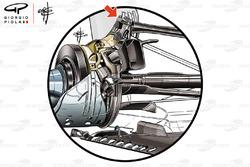 Mercedes AMG F1 W09 rear suspension