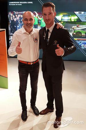 Владелец Orange1 Racing Армандо Донаццан и пилот Мирко Бортолотти