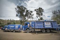 Yamaha Official Rally Team werkplaats