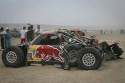 #310 X-Raid Team Mini: Bryce Menzies, Peter Mortensen na crash