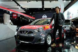 Olivier BéŽdard with his Nissan Micra Cup car
