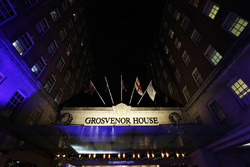 The entrance of the Grosvenor House Hotel