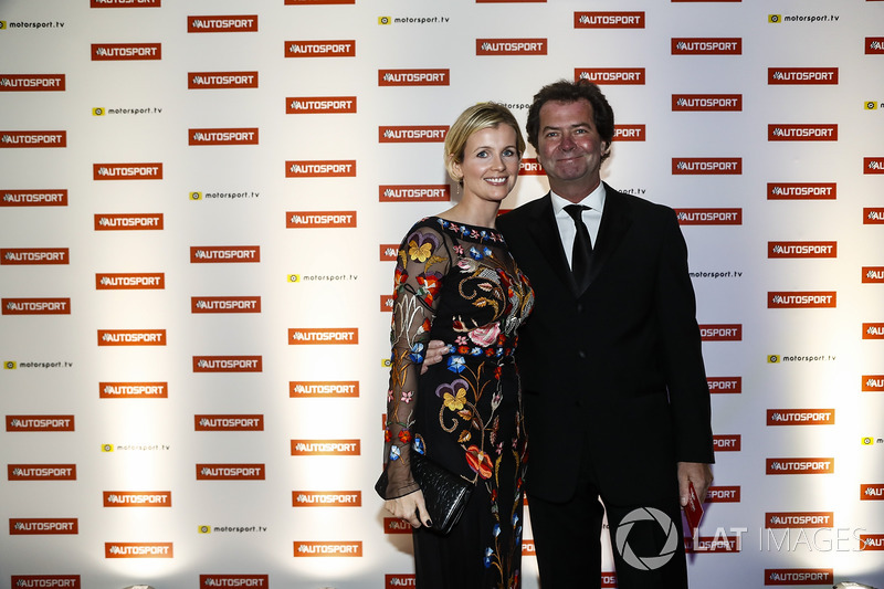 Trevor Carlin y su mujer Stephanie