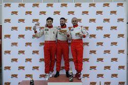Podio: il secondo classificato Andrea Mabellini, il vincitore Cosimo Barberini, il terzo classificat