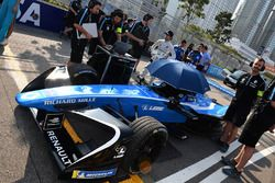 The car of Nicolas Prost, Renault e.Dams, on the grid