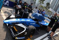 La monoposto di Nicolas Prost, Renault e.Dams, in griglia