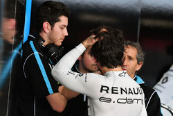 Nicolas Prost, Renault e.Dams, parla con Alain Prost, Senior Team Manager, Renault e.Dams