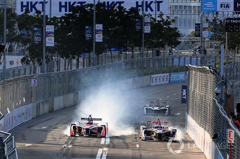 Felix Rosenqvist, Mahindra Racing, Alex Lynn, DS Virgin Racing