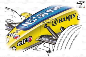 Renault R25 2005 front chassis fins
