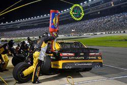 Brendan Gaughan, Richard Childress Racing Chevrolet, makes a pit stop