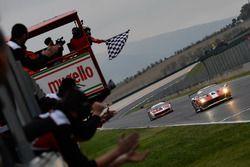Checkered flag for #11 Formula Racing Ferrari 488: Nicklas Nielsen