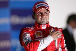 Фелипе Масса на подиуме Гран При Бразилии 2008 года