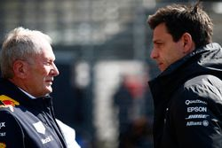Helmut Markko, Consultant, Red Bull Racing, Toto Wolff, directeur exécutif Mercedes AMG F1
