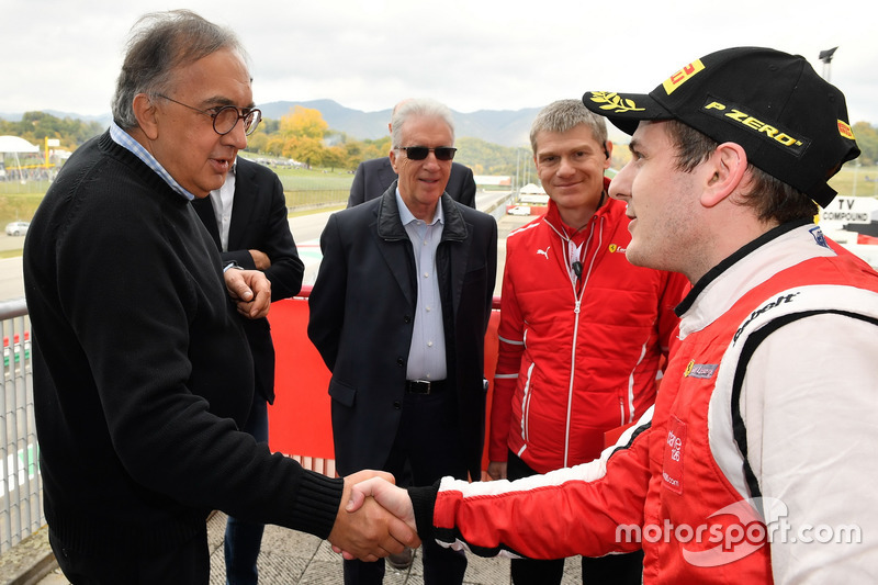 Sergio Marchionne, CEO FIAT con Fabio Leimer #8 Octane 126 Ferrari 488