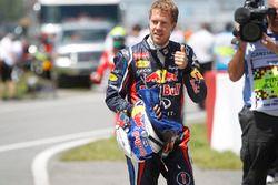 Sebastian Vettel, Red Bull Racing, fête sa pole