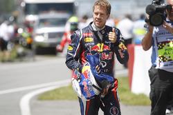 Sebastian Vettel, Red Bull Racing, viert zijn pole