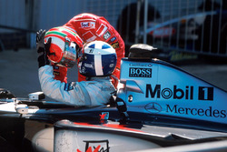 1. David Coulthard, McLaren MP4/14; 2. Eddie Irvine, Ferrari