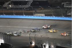 John Hunter Nemechek, SWM-NEMCO Motorsports Chevrolet, Ryan Truex, Hattori Racing Enterprises Toyota