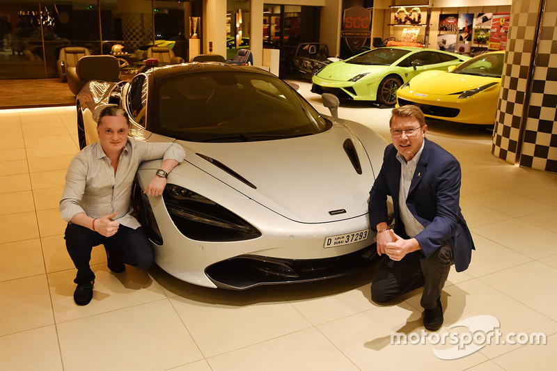 Mika Hakkinen and Gautam Singhania with his McLaren 720S