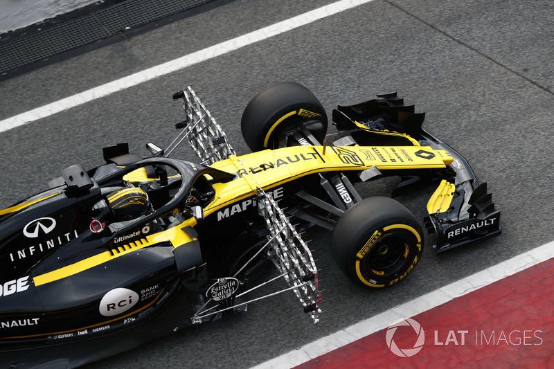 Nico Hulkenberg, Renault Sport F1 Team RS18, aero sensors