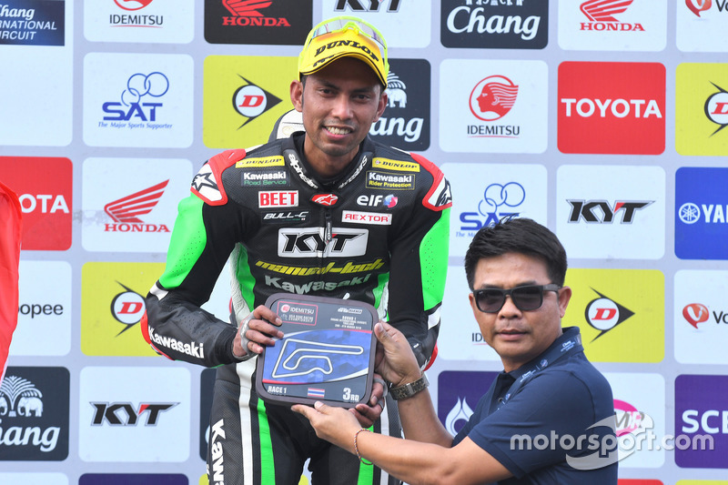 Podium SS600: third position Azlan Shah, Manual Tech KYT Kawasaki Racing