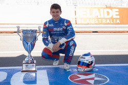Todd Hazelwood, Brad Jones Racing Holden with the Adelaide 500 trophy