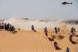 Acción en moto