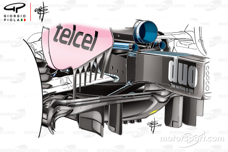 Force India VJM11 new diffuser, China GP