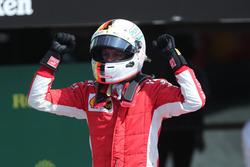 Sebastian Vettel, Ferrari viert in parc ferme
