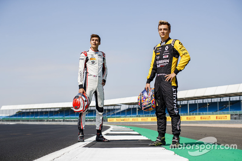 Les vainqueurs du Red Bull Ring, George Russell et Artem Markelov