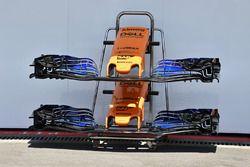 Nariz y alerón delantero del McLaren MCL33