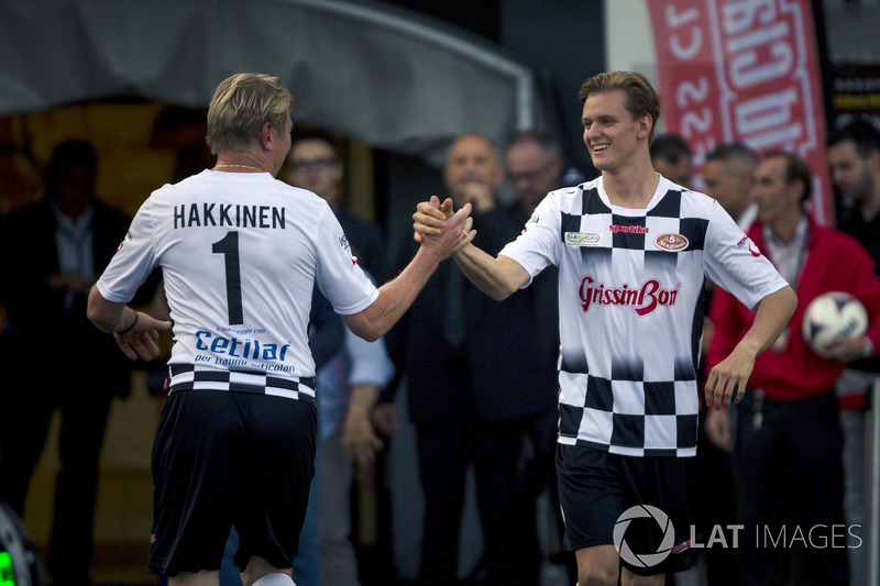 Mika Hakkinen, and Mick Schumacher