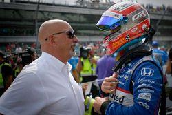 Graham Rahal, Rahal Letterman Lanigan Racing Honda, mit Bobby Rahal