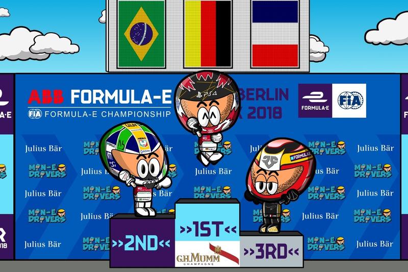El podio del ePrix de Berlín de la Fórmula E 2018, por MiniEDrivers