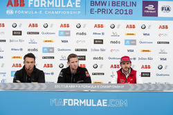 Andre Lotterer, Techeetah, Maro Engel, Venturi Formula E Team, Daniel Abt, Audi Sport ABT Schaeffler, in the press conference