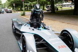 Formula 1 World Champion, Nico Rosberg with the Gen2 Formula E car